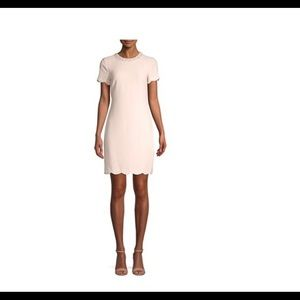 Karl Lagerfeld Paris Embellished Scalloped dress